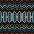Ornamental knitted pattern folk textile seamless Stock Image