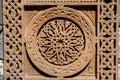 Ornamental knotworks of armenian cross stones - khachkars Royalty Free Stock Photo