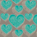 Ornamental lace hearts seamless pattern Stock Image