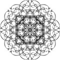 Ornamental mandala. Hand drawn