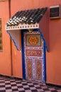 Ornamental moroccan door Royalty Free Stock Photo