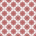 Abstract Ornamental Oriental Floral Seamless Vintage Arabic Chinese Transparent Red Pattern Texture Wallpaper Royalty Free Stock Photo