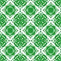 Ornamental Oriental Beautiful Green Royal Floral Vintage Spring Abstract Seamless Pattern Texture Wallpaper