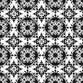 Ornamental Oriental Black Floral Beautiful Royal Vintage Spring Abstract Seamless Pattern Texture Wallpaper