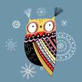Ornamental owl Royalty Free Stock Images