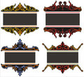 Ornamental panels Royalty Free Stock Photos