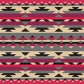 Ornamental pattern for knitting and embroidery american indians navajo tribal ethnic fabric fashion pixel art Royalty Free Stock Photography
