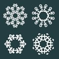 Ornamental patterns round lace this is file of eps format Royalty Free Stock Photography