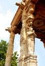 Ornamental pillar sculptures  of the ancient  Brihadisvara Temple in Thanjavur, india.
