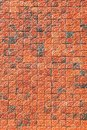 Ornamental red brick wall Royalty Free Stock Photos