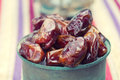 An ornamental of ripped dates served during ramadan Stock Photo