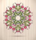 Ornamental Round Floral Lace K...