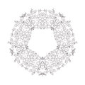 Ornamental round floral pattern. Decorative line art frame for design template. Elegant vector element , place text. Royalty Free Stock Photo