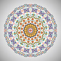 Ornamental round geometric pattern in aztec style Royalty Free Stock Photo