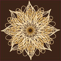 Ornamental round lace circle ornament this is file of eps format Royalty Free Stock Image