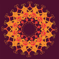 Ornamental round lace circle ornament see my other works in portfolio Royalty Free Stock Photos