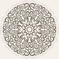Ornamental round lace curl pattern background Royalty Free Stock Photos