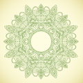 Ornamental round lace in ethnic style Royalty Free Stock Image