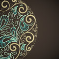Ornamental round lace in fantasy style vector illustration Royalty Free Stock Images