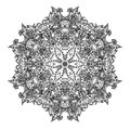 Ornamental round lace this is file of eps format Stock Photos