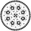 Ornamental round lace pattern, Stock Image