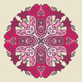 Ornamental round lace pattern Stock Photography