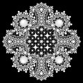 Ornamental round lace pattern, background with many details, loo