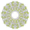 Ornamental round lace pattern in engineering zentangle arabesque designs Stock Image