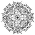 Ornamental round lace pattern is like mandala lacy arabesque designs oriental ornament you can use this in the design of textile Stock Photo