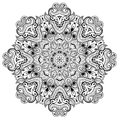 Ornamental round lace pattern is like mandala lacy arabesque designs oriental ornament you can use this in the design of textile Royalty Free Stock Images