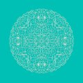 Ornamental Round Lacy Element Royalty Free Stock Image