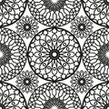Ornamental round morocco seamless pattern. Orient traditional ornament. Oriental motif. Flat. Moroccan tile. Royalty Free Stock Photo