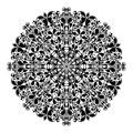Ornamental round pattern isolated vector illustration Royalty Free Stock Photography