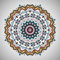 Ornamental roundgeometric pattern in aztec style Royalty Free Stock Photo