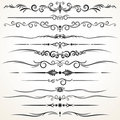 Ornamental Rule Lines in Different Design Royalty Free Stock Photo