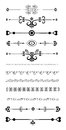 Ornamental rule lines set of in different design styles Stock Photo