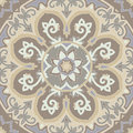 Ornamental seamless ethnicity pattern in warm colors the circular arrangement of stalks and leaves ornament of beige brown and Stock Images