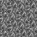 Ornamental seamless pattern. Vector black and white texture. Seamless  template can be use for wallpaper, pattern fills, tex Royalty Free Stock Photo