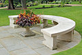Ornamental stone bench Royalty Free Stock Images