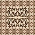 Ornamental tile illustration of Royalty Free Stock Photo