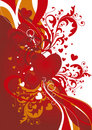 Ornamental valentine background Stock Photography