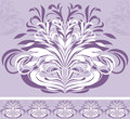 Ornamental violet border for design illustration Royalty Free Stock Images