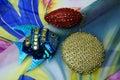 Ornamentation artwork background ball bead beaded beads beauty blue Stock Photos