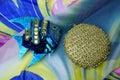 Ornamentation artwork background ball bead beaded beads beauty blue Stock Images