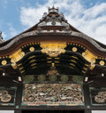 Ornamentation on roofs of Nijo Castle in Kyoto.
