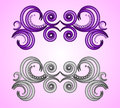 Ornamente calligraphic design elements decorative ornaments Stock Photography