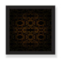 Ornamented background black elegant picture frame with Stock Photos