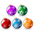 Ornamented Christmas balls Royalty Free Stock Photos