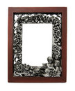 Ornamented Fine Art Picture Frame Stock Photo
