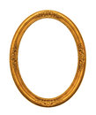 Ornamented gold plated empty picture frame Isolated on white Royalty Free Stock Photo